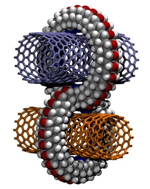 Crimp junctions for perpendicular carbon nanotube scaffolding
